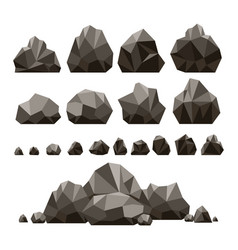 stones and rocks 3d isometric vector image