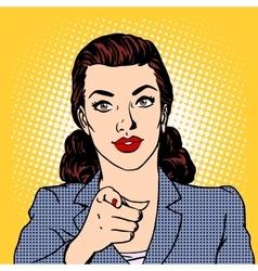 Businesswoman wants business concept vector