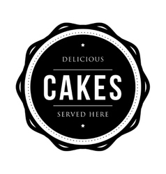 Cakes vintage stamp vector image
