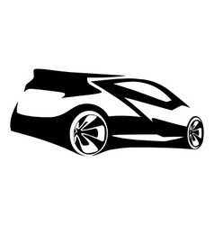 car sports silhouette vector image vector image
