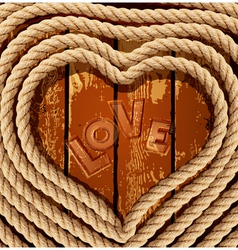 Heart of coiled rope vector
