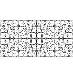 wrought iron seamless pattern vector image vector image