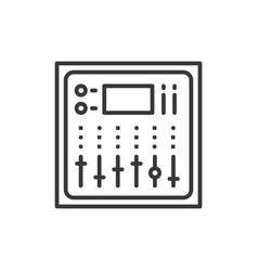 sound board - line design single isolated icon vector image vector image