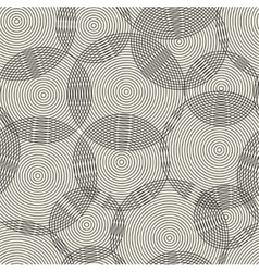 Abstract seamless pattern of rings vector image