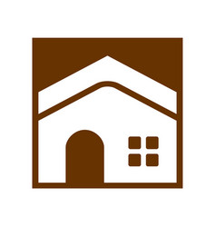 simple home box vector image