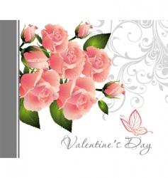 valentine rose illustration vector image vector image