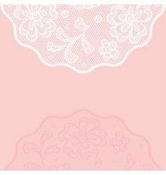 Vintage lace background ornamental flowers vector image