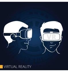 Virtual reality goggles vector image
