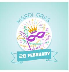 28 february mardi gras vector image