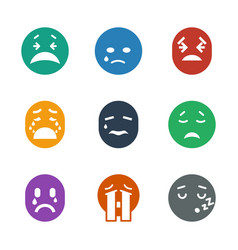 9 cry icons vector