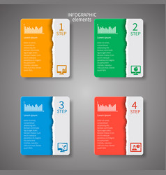 abstract 3d paper infographics vector image