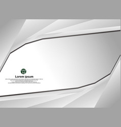 Abstract white with gray technology color modern vector