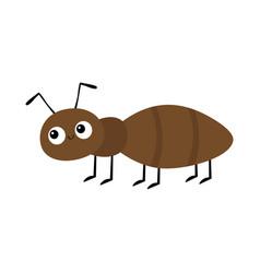 Ant insect animal icon cute cartoon kawaii funny vector