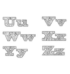 Anti coloring book alphabet the letter vector