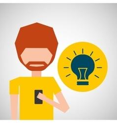 Avatar smartphone idea social media vector