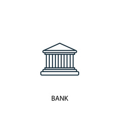 bank concept line icon simple element vector image