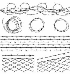 barbed wire elements vector image