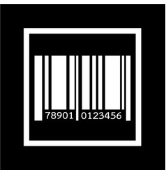 barcode icon design vector image