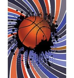 Basketball Ball on Rays Background3 vector image