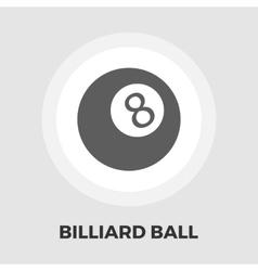 Billiard ball flat icon vector
