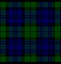 Black watch scottish tartan plaid seamless pattern vector