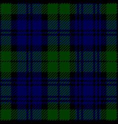 black watch scottish tartan plaid seamless pattern vector image