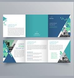 brochure design 708 vector image
