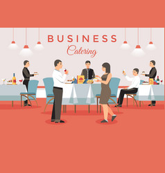 Business catering concept vector
