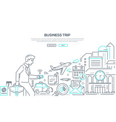 Business trip - modern line design style vector