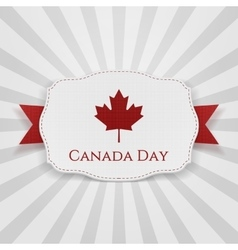 Canada day badge with ribbon vector
