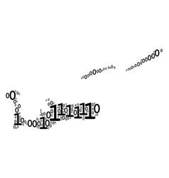 cayman islands map mosaic of binary digits vector image