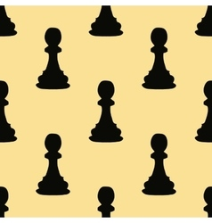 Chess pawn seamless pattern vector