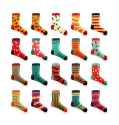 Child socks icons colorful cute icons vector