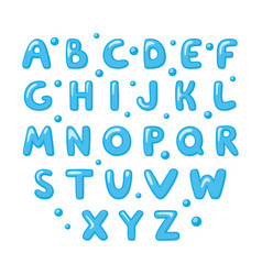 Childish cute english alphabet bold and shiny vector
