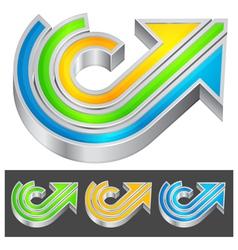 color arrow vector image