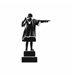 Columbus monument icon simple style vector