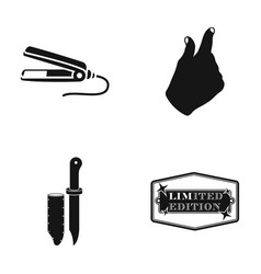 curl for hair hand gesture and other web icon in vector image