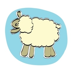 Cute Christmas or Eid al Adha sheep vector