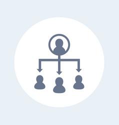 Delegation icon vector