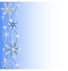 Diamond hanging snowflakes vector