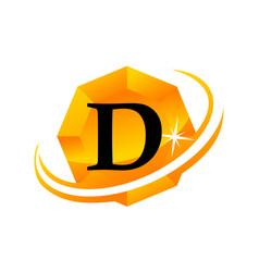 Diamond swoosh initial d vector