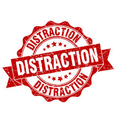 distraction stamp sign seal vector image