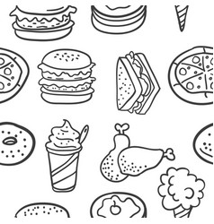doodle of element food various vector image