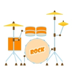 Drum icon flat style vector