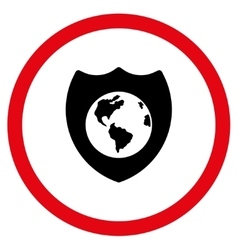 Earth Shield Flat Rounded Icon vector
