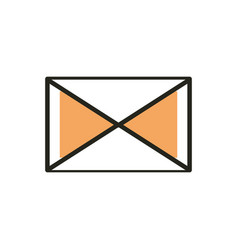 email web development icon line and fill vector image