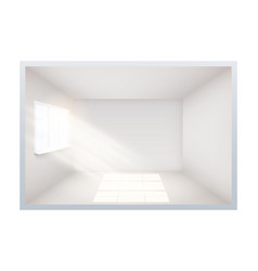Example of empty room with window on side vector