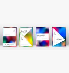 Flyer layout stylish curious template for brochur vector