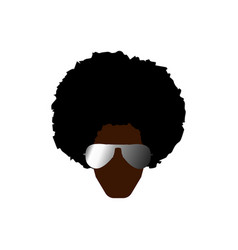 funky cool african man with afro hairstyle isolate vector image