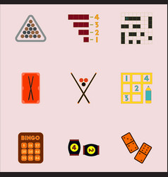 Games icons set table games collection vector